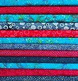 Sew Simple SSFB01 Batik-Stoff, handgefärbt, 12 Fat