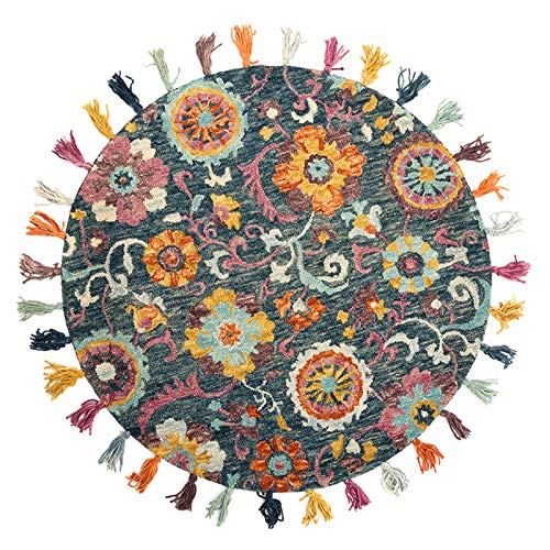 Alfombra de lana tradicional hecha a mano, de pelo bajo,...