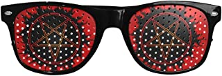 Fashion Custom Black Pentagram Sunglasses (Perforated Lenses)- Perfect Favors for Wedding Party Bachelor Parties, Receptions, Pictures, and Photo Booths