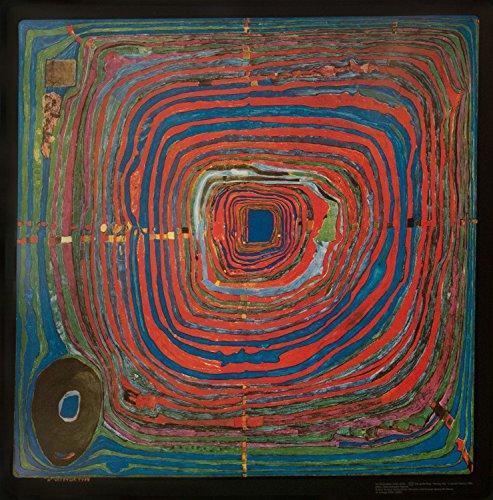 1art1 Friedensreich Hundertwasser - Der Grosse Weg Poster Kunstdruck 68 x 67 cm