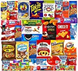 Ultimate Variety Sampler Care Package (40 Count) - Halloween Package, Trick or Treat Snacks, Chips, Cookies, Bars, Candies, Nuts Gift Box, Office Meetings ,Friends & Family, Military,College Students