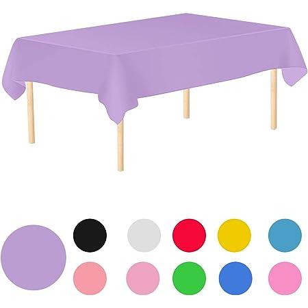 Trimming Shop Nappe rectangulaire jetable en plastique de 137,2 x 274,3 cm pour fêtes d'anniversaire et de mariage, intérieur, extérieur, décoration de table (violet clair, lot de 1)