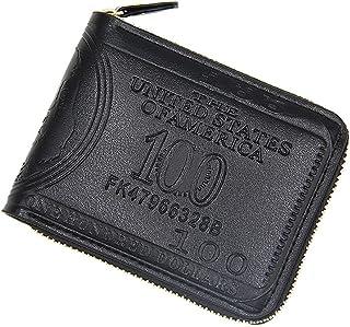 BeniMen's wallet big capacity casual zipper short wallet-black