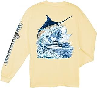 Guy Harvey Marlin Boat Long Sleeved T-Shirt