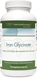 Iron Glycinate 29 mg.   Gentle and Highly Absorbable Iron Formula*   120 VCaps   Pharmaceutical Grade