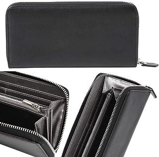 lunetta [Amazon限定ブランド] 天然牛革 メンズ 長財布 ブラックレザー ギフトBOX入り 財布 サイフ