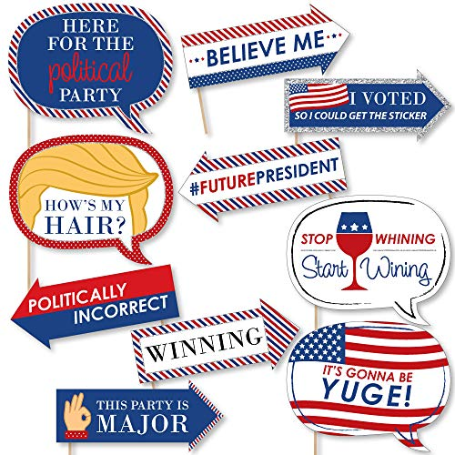 Funny Election - Political Election Party Photo Booth Props Kit - 10 Piece