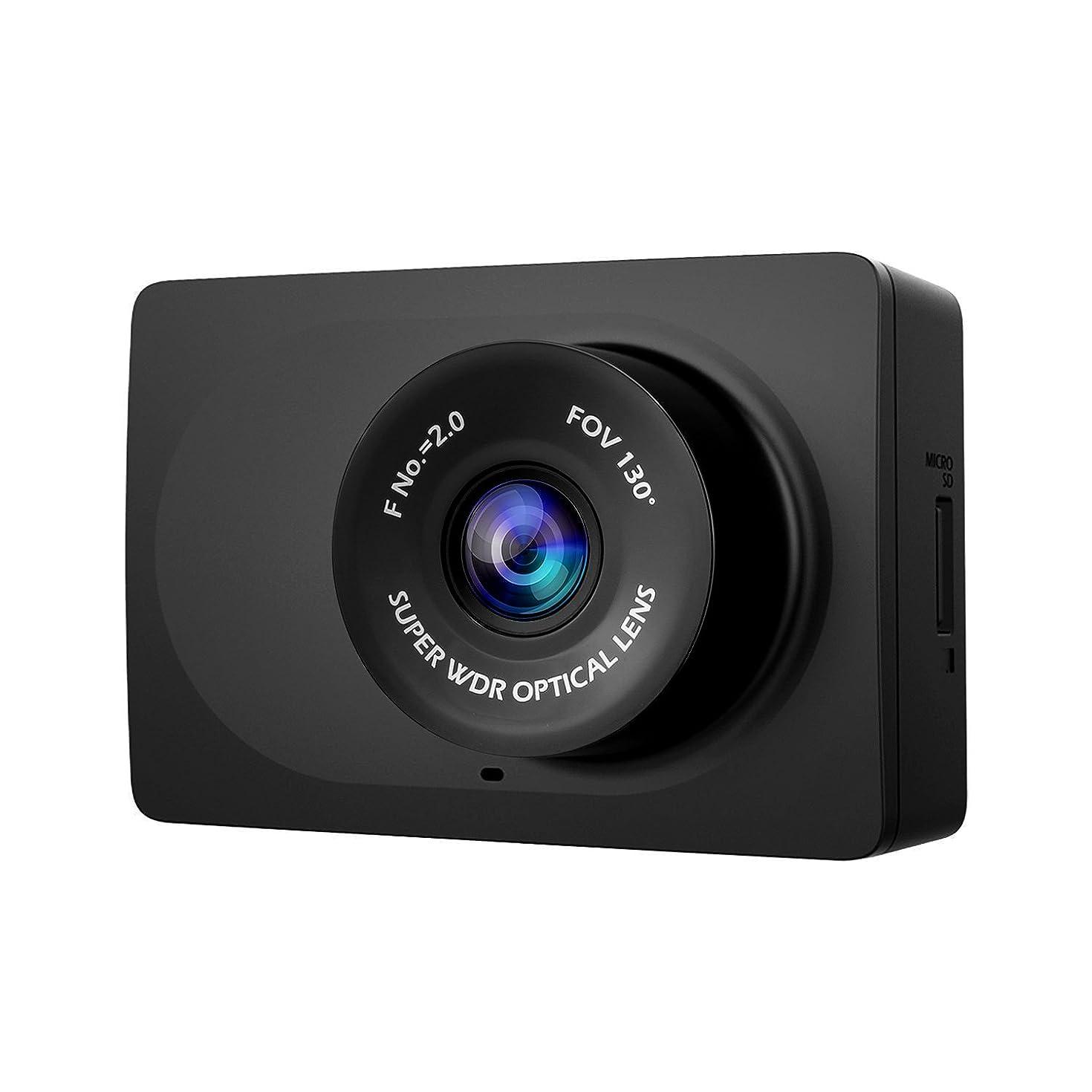 "YI Compact Dash Cam, 1080p Full HD Car Dashboard Camera with 2.7"" LCD Screen, 130° WDR Lens, Mobile APP, G-Sensor, Night Vision, Loop Recording - Black"