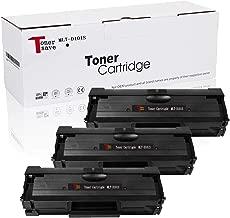 TonerSave MLT D101S Toner Cartridge for Samsung SCX-3405W ML-2165 ML-2160 ML-2165W SCX-3405FW SCX-3400 SCX-3405 SCX-3401 ML-2160W ML-2161 ML-2166W ML-2168 ML-2168W ML-2167 SCX-3400F SCX-3400FW 3 Pack