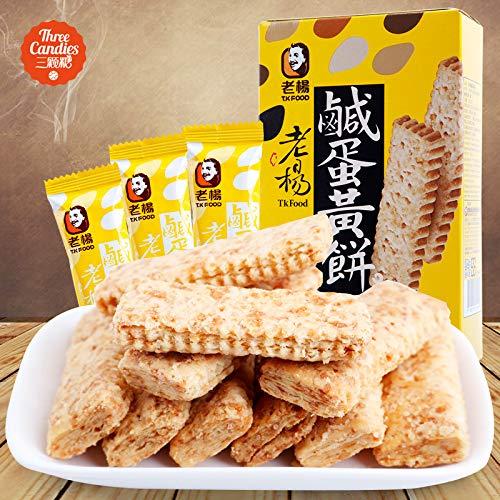 台湾进口老杨咸蛋黄饼100g 早餐饼干咸蛋黄酥 粗粮糕点千层酥零食