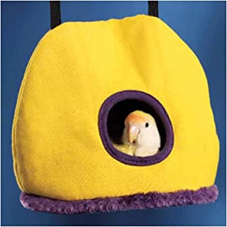 Stock Show Parrot Nest Plush Warm Winter Hanging Hammock Pet Bird Round Hanging Swing Bed Cave Cage Decor Small Animals Ho...