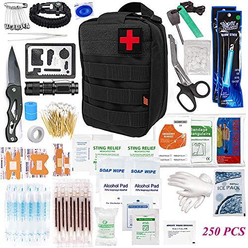 SCYDAO Botiquín de Primeros Auxilios Equipo de Supervivencia  250Pcs del Kit de de Emergencia