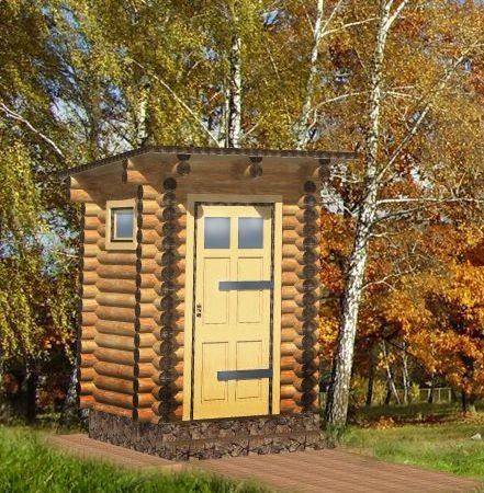JUNIT Rundbohlen Gerätehaus/Toilette RBHT massiv