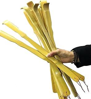 UPlama 12 PCS Natural Bamboo Back Scratcher Traditional Wooden Back Scratcher,Long Back Scratcher,Itching Relief and Body Massage for Men Women Children