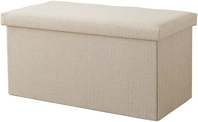 TecTake Pouf pieghevol panca cassapanca contenitore poggiapiedi 76x38x38 disponibile in diversi colori grigio chiaro   No. 402238