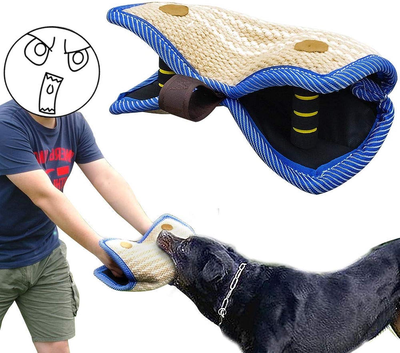 FidgetGear Jute Dog Bite Pillow Durable Chew Toy for German Shepherd Dog Training Exercise