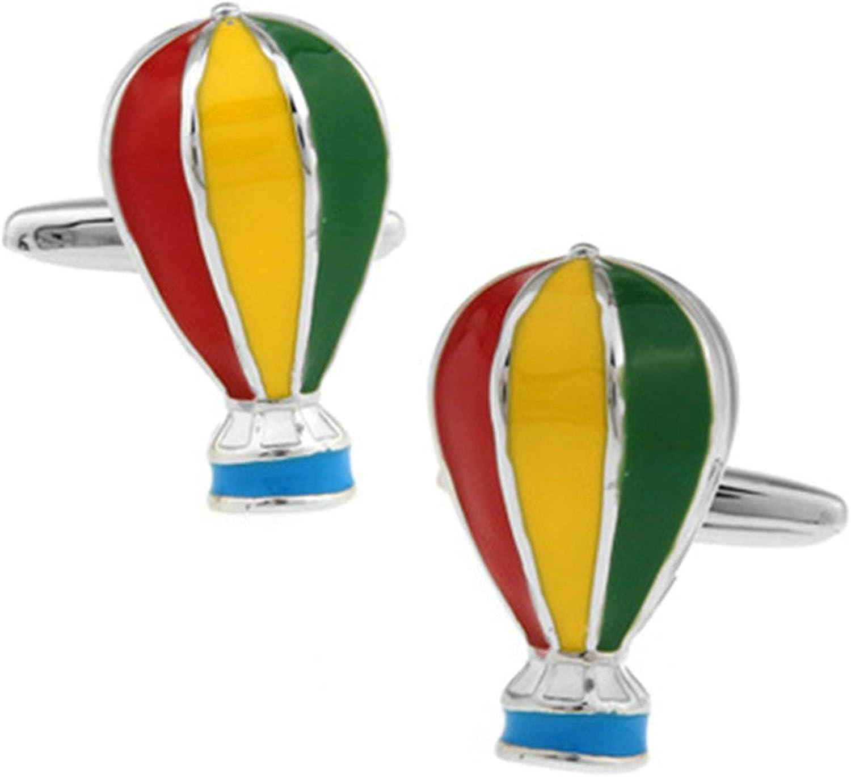 Daesar Men Cufflink Shirts Cufflinks and Studs Wedding Hot Air Balloon Cuff Links Vintage Colorful