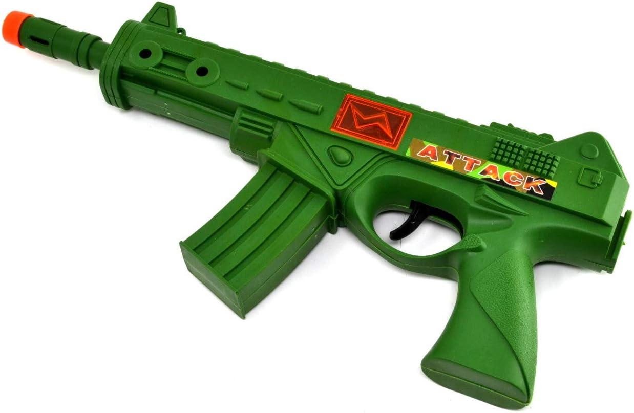 ARUNDEL SERVICES EU Ametralladora de Juguete Fusil de Asalto Pistola de Juguete con Sonido y Luces Rifle Soldado Ejército Pistola de Juguete Ametralladora