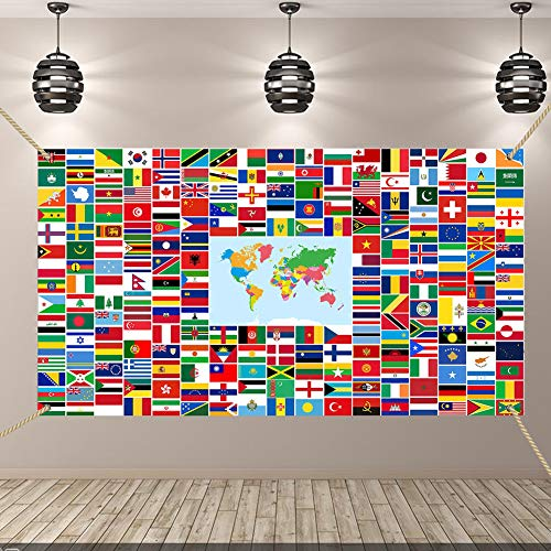 Orgrimmar World Flag Banner International Flags Banner with Iron Grommets for Backdrop Decoration