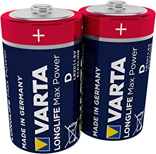 VARTA Longlife Max Power D Mono LR20 Batterij (verpakking met 2 stuks) Alkaline Batterijen – Made in Germany – ideaal voor...