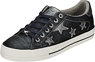 Mustang Lace-up with 6 Eyelets Low Top Womens Casual Trainers