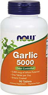 Now Supplements, Garlic 5000, Enteric Coated, 90 Tablets