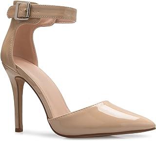 OLIVIA K Women's Sexy D'Orsay Pointed Toe Heel Pump -...