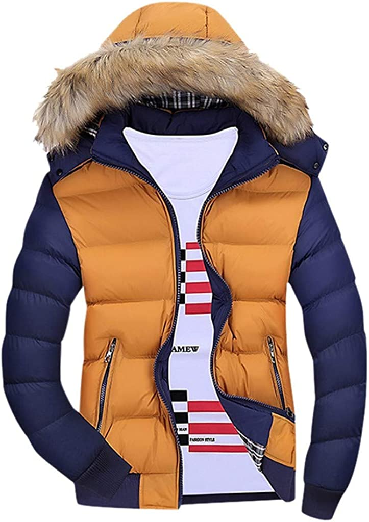 WOCACHI Mens Down Jackets Puffer Hooded Free Shipping New Coat Detachable Thicken online shopping