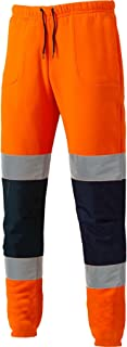 FASHION FAIRIES Mens Boys Hi Viz Visibility Trouser Boys Bottoms Work Wear Safety Jogging Pants