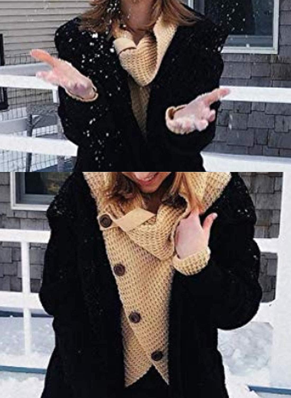 GOSOPIN Damen Pullover lose Pullis Langarm Oberteil Rollkragen Outwear S-XXL #7