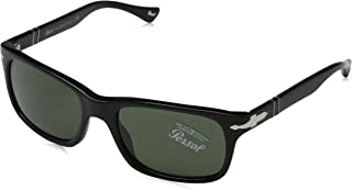 PO3048S Sunglasses 95/31 Black/Crystal Green Lens 58mm, 58-19-145