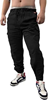 SOMTHRON Uomo Cintura Elastica in Cotone Lungo da Jogging Pantaloni Sportivi Taglie Forti Pantalone Sportivo da Lavoro con...