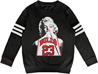 Ruslin Kid Marilyn-Monroe-23-bulls- Sweatshirt Long Sleeve Top for Boys Or Girls