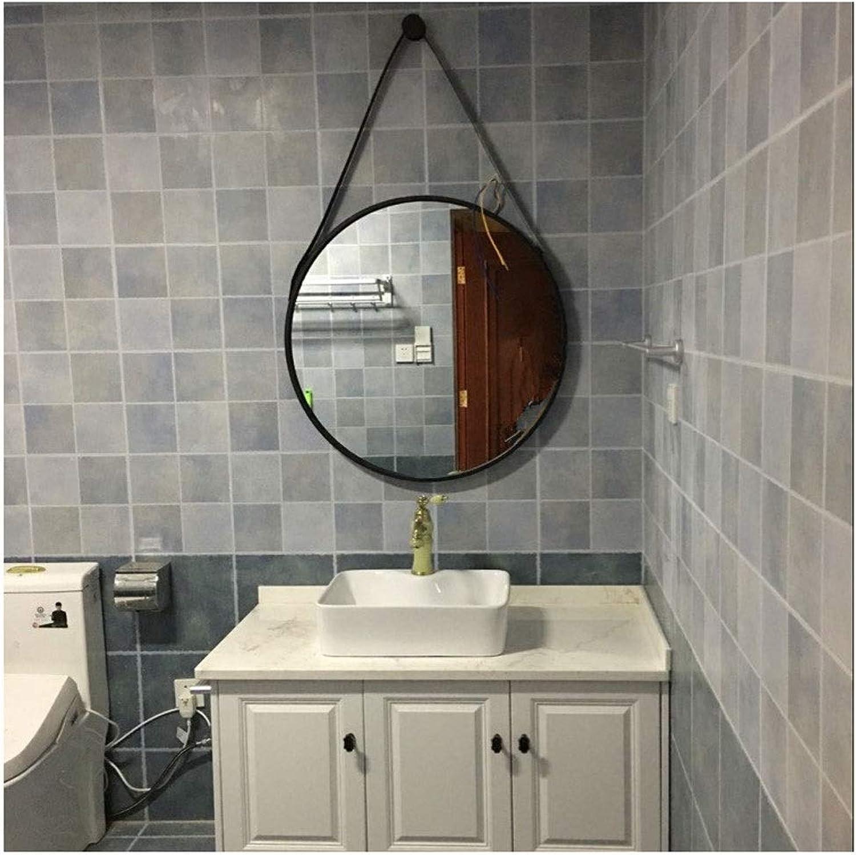 JUCAIYUAN Mirror Bathroom Mirror Wall Mounted Vanity Mirror, Wash Basin Mirror (color   Black, Size   40CM)