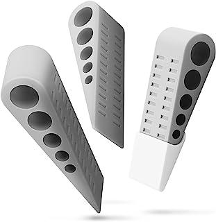 Door Stopper (3 Pack), Fosmon Heavy Duty Wedge Rubber Slip Resistant Door Stop with Holders for All Floor Surfaces