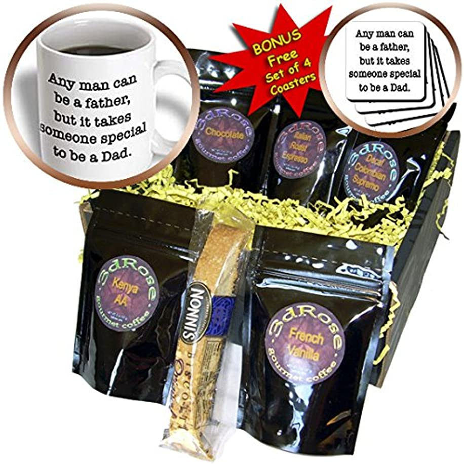 EvaDane - Quotes - Any Man Can Be A Father But It Takes Someone Special To Be A Dad Black - Coffee Gift Baskets - Coffee Gift Basket (cgb_215070_1)