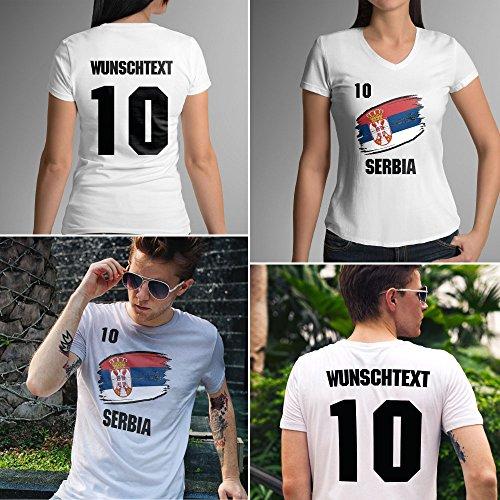 Serbia | Serbien | Männer oder Frauen Trikot T - Shirt mit Wunsch Nummer + Wunsch Name | WM 2018 T-Shirt