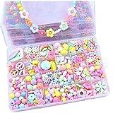 24 Grille Laçage Cordage Perles Perles DIY Enfants Bracelet Fermoir Cheveux...