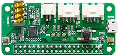 Seeed Studio ReSpeaker 2-Mics Pi HAT Based on WM8960 Dual-Microphone Expansion Board 2 Grove Interfaces Support GPIO and I2C Stereo Codec with Class D Speaker Driver for AI and Voice Applications