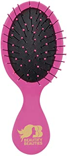 Beautify Beauties Detangler Mini Hair Brush, Travel Size, Perfect for kids (Pink)
