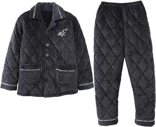 MEIXIAPyjama Sets De VêteHommests De Nuit Loungewear Pyjama Hiver Velours Corail Homme