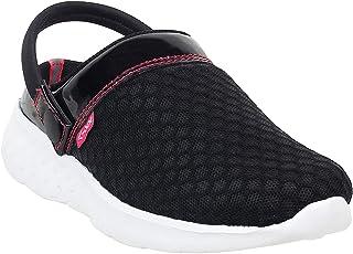 KazarMax Unisex-Child's Black Pink Clogs