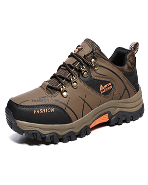 トレッキングシューズ 登山靴 メンズ  ハイキングシューズ 防水 防滑 ウォーキングシューズ アウトドア トラベル ハイカット キャンプ シューズ 暖かい靴 大きいサイズ クッション性/通気性  カーキ 25.5CM
