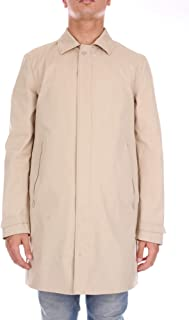 DUNO Men's ETNAROGERBEIGE Beige Cotton Coat