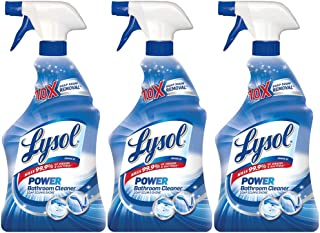 Lysol Power Bathroom Cleaner Trigger, 22 Ounces (Pack of 3)
