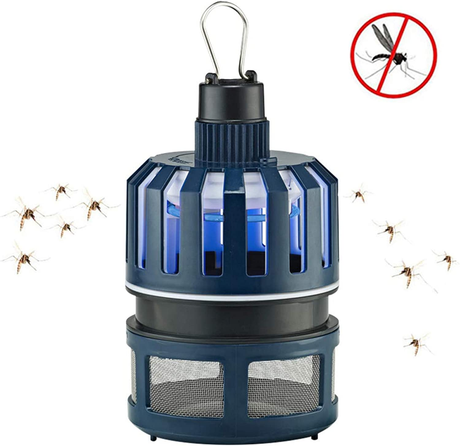 Insect Killer,Camping Lantern Mosquito Zapper Tent Light,Anti Bug Insect Repellent, Poison Free,for Indoor & Outdoors