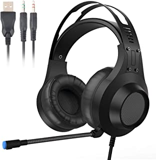 Giaride Gaming Headset Surround Stereo Gaming Headphones with Soft Breathing Earmuffs,with Noise Cancelling, Mic for Xbox One, PS4, Nintendo Switch, PC Mac Computer Games