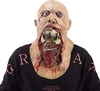 Alphatool Scary Latex Full Head Halloween Mask- Horror Zombie Mask Prop for Halloween Costume Party, Cosplay, Haunted House Decoration