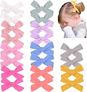 10 Pairs Hair Bow Clips for Girls, Hair Accessories for Girls Barretes Baby hair Bows for Infant Toddler Kids