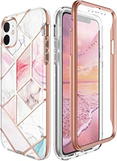 Miracase Compatible with iPhone 11 Case,360° Full-Body Case with Screen Protector Anti-Scratch Shock Proof Absorption Bumper Case Cover for Apple iPhone 11 (6.1inch),2019 Release